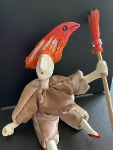 Poupee Millet Doll With Fish Headdress and Broom,  8.5 inches, by Pablo