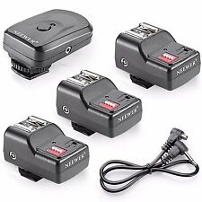 NEEWER 16 Channel Wireless Remote FM Radio Flash Speedlite Trigger + 3 Receivers