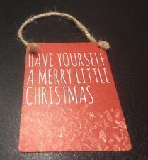 Merry Christmas Mini Plaque