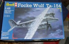 Revell Focke Wulf Ta-154 Military aircraft model 1/48th scale