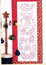 PATTERN - Santa's Workshop - Christmas stitchery PATTERN + fabric