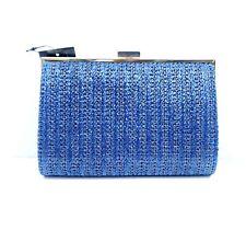 INC Loryy Embellished Sparkle Clutch Blue