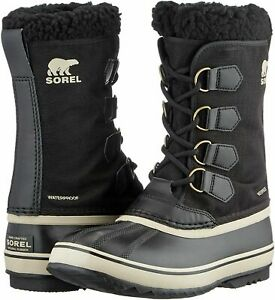 Sorel Mens Boots 1964 PAC Nylon Waterproof Winter Snow Boots Size 6 or 9, Black