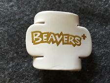 Beaver Leather Woggle White Scouts
