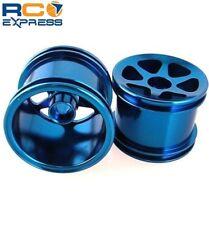 GPM Racing Losi Mini-T Aluminum Blue Front 6 Spoke Star Wheels SMT0603F/L06