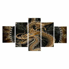 HD Printed 5 Piece Canvas Art Chinese Dragon Painting Livingroom Wall Decor
