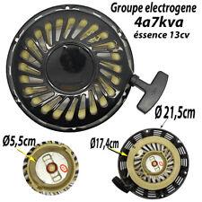 lanceur demarreur a corde  groupe electrogene generateur moteurs 13 CV 21,5cm