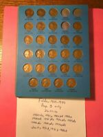 1909 1940 26 coin Page 3 Lincoln Penny  31 32 32D 33 + Set Whitman 9004 Folder