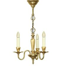 Interiors 1900 Asquith 3-Light Pendant Ceiling Light Chandelier Solid Brass Gold