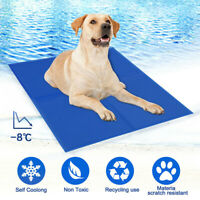 Dog Cat Self Cooling Gel Mat Pet Summer Cool Pillow Hot Weather Large Bed Pads