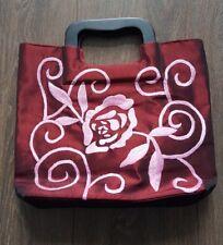 Handbag Evening Bag Casual Burgandy Pink Satin finish
