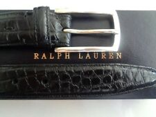 NWT RALPH LAUREN PURPLE LABEL ALLIGATOR BELT STERLING SILVER BUCKLE .LIST $1.250