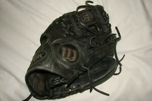 Nice Pre-owned Wilson A1K Black Leather Baseball Glove RHT 11.25""