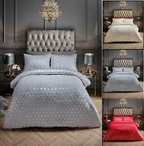 Teddy Fleece Heart  Love Foil Luxurious Soft Warm Cosy Duvet Cover Sets All Size