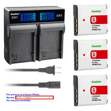 Kastar Battery LCD Rapid Charger for Sony NP-BG1 Sony Cyber-shot DSC-H9 Camera