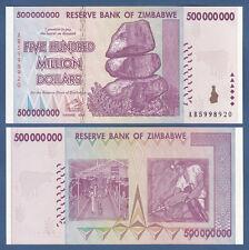 SIMBABWE / ZIMBABWE 500.000.000 Dollars 2008  UNC P.82