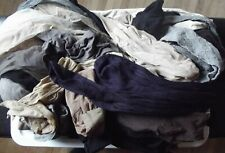 Lot of 35 Nylon Stockings & Tights Assorted Sizes Brands Colors
