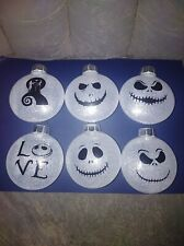 Nightmare before christmas ornaments (6pc set) disc ornaments