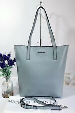 """MICHAEL KORS """"Emry"""" Tote Shoulder Crossbody Bag Large Blue Leather ~Dust Bag ~EX"""
