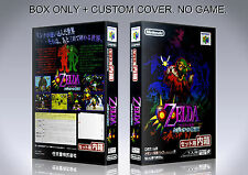 ZELDA MAJORA'S MASK. JAPAN. Box/Case. Nintendo 64. BOX + COVER. (NO GAME).