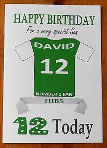 "HIBERNIAN FAN Unofficial PERSONALISED Football Birthday Card (""HIBS"")"