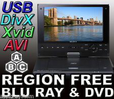 SONY BDP-SX910 PORTABLE REGION FREE BLU-RAY DVD PLAYER - ZONE A,B,C & DVD: 0-9