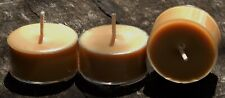 10pk 120hr/pack VANILLA TABAC Scented NATURAL SOY TEA LIGHT CANDLES Gift Box