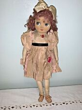 """19"""" Antique Vintage Cloth Doll Hand Painted Face (unknown maker)"""