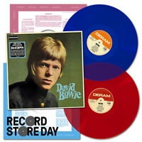 DAVID BOWIE Self Titled RED & BLUE 2 x VINYL LP Mono/Stereo NEW SEALED RSD 2018