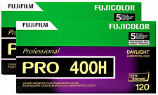 10 Roll Fuji Pro 400H 120 Color Negative Film Daylight 400 FUJIFILM Exp 10/2018