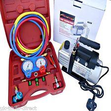 Kit de refrigeración AC A/C manómetros bomba de vacío de Hvac Combo 3CFM de aire 1/4 Hp