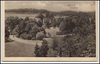 Plauen Vogtland alte Ansichtskarte ~1920/30 Partie am Stadtpark mit See