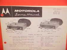 1960 DODGE DART PHOENIX POLARA CONVERTIBLE MOTOROLA AM RADIO SERVICE SHOP MANUAL
