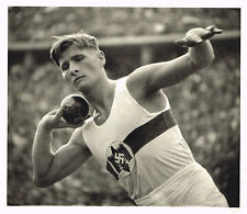 1936 German Olympic Games Hans Sievert Shot Put Riefenstahl Photo Gravure Print
