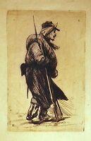 GRAVURE 19è SOLDAT guerre de 1870 style des gueux Jacques CALLOT anonyme
