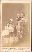 CDV photo Kronprinz Friedrich Wilhelm von Preußen mit Familie