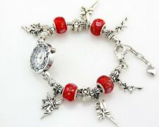 1pcs Charm Watch Style Bracelet Fit European Bead 20cm Free Ship WP09