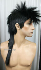 Quality MOHAWK Wig ..Unisex ..  JET BLACK  ..HOT!  *