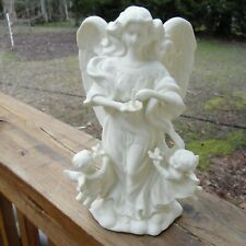 PartyLite Angel Of Light Bisque Porcelain Taper Candle Holder ~ Retired
