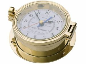 TIME and TIDE CLOCK, ROYAL MARINER 116mm CAST BRASS, USA MOVEMENT #C622T