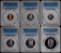 6-Coin Set - 1973-S Proof Set (1C, 5C, 10C, 25C, 50C, $1) PCGS PR69DCAM