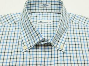 PETER MILLAR Btn-Down Gingham Check Woven Long Sleeve Shirt Sz M