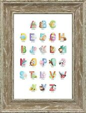 Alphabet Nursery Wall Art Picture Birthday First Birthday Gift FRAMELESS PRINT