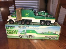 1993 BP Toy Race Car Carrier Truck Trailer - Limited Edition Series Lights (AB)