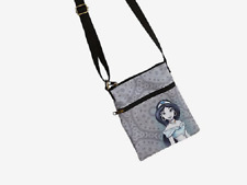 DISNEY ALADDIN JASMINE PORTRAIT CROSSBODY BAG 2 ZIPPER POUCH LOUNGEFLY PASSPORT