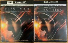 FIRST MAN 4K ULTRA HD BLU RAY 2 DISC SET + SLIPCOVER SLEEVE FREE SHIPPING BUY IT