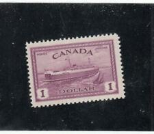 CANADA # 273  VF-MNH  $1 SEPT 1946 PEI TRAIN FERRY / RED VIOLET CAT VALUE $68