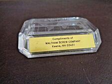 Waltham Screw Company Plastic Desk Paperweight (Cat.#7A061)