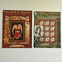 Lot 2 Christmas Quilt Patterns Book Of Angels Quilt A Merry Christmas Stockings