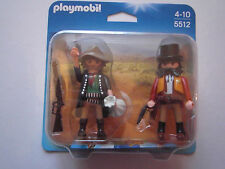 PLAYMOBIL N° 5512 PACK 2 FIGURINES WESTERN BANDIT + SHERIFF SOUS BLISTER NEUF